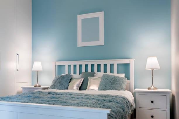 Chambre bleux décorée